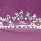 Bridal imperial;Gorgeous Headpiece;Fashion Dancer Opera Tiara;Elegance Wedding Silver Regal#702