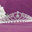 Bridal imperial;Gorgeous Headpiece;Fashion Dancer Opera Tiara;Elegance Wedding Silver Regal#825