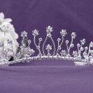Bridal imperial;Gorgeous Headpiece;Fashion Dancer Opera Tiara;Elegance Wedding Silver Regal#1281