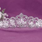Gorgeous Headpiece;Fashion Dancer Opera Tiara;Elegance Wedding Silver Regal ;Bridal imperial#1055