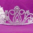 Gorgeous Headpiece;Bridal imperial;Fashion Dancer Opera Tiara;Elegance Wedding Silver Regal#8720