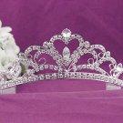 Gorgeous Headpiece;Bridal imperial;Fashion Dancer Opera Tiara;Elegance Wedding Silver Regal#8760