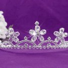 Fashion Dancer Opera Tiara;Fancy Headband;Bridal imperial;Elegance Wedding Silver Regal#628