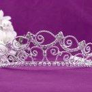Fashion Dancer Opera Tiara;Fancy Headband;Bridal imperial;Elegance Wedding Silver Regal#1475