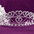 Fashion Dancer Opera Tiara;Fancy Headband;Bridal imperial;Elegance Wedding Silver Regal#1506