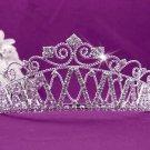 Fashion Dancer Opera Tiara;Fancy Headpiece;Bridal imperial;Elegance Wedding Silver Regal#1538