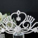 Fancy Headpiece;Fashion Dancer Opera Tiara;Silver Elegance Wedding Regal;Bridal imperial#294