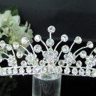 Fancy Headpiece;Fashion Dancer Opera Tiara;Silver Elegance Wedding Regal;Bridal imperial#519
