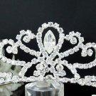 Fancy Headpiece;Fashion Dancer Opera Tiara;Silver Elegance Wedding Regal;Bridal imperial#574