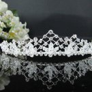 Fancy Headpiece;Fashion Dancer Opera Tiara;Silver Elegance Wedding Regal;Bridal imperial#1880