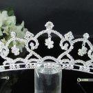 Bridal imperial;Fancy Headpiece;Fashion Dancer Opera Tiara;Silver Elegance Wedding Regal#1918