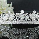 Bridal imperial;Fancy Headpiece;Fashion Dancer Opera Tiara;Silver Elegance Wedding Regal#2059