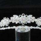 Bridal imperial;Fancy Headpiece;Fashion Dancer Opera Tiara;Silver Elegance Wedding Regal#2169