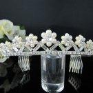 Fancy Headpiece;Bridal imperial;Fashion Dancer Opera Tiara;Silver Elegance Wedding Regal#1025