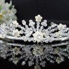 Fancy Headpiece;Bridal imperial;Fashion Dancer Opera Tiara;Silver Elegance Wedding Regal#1060
