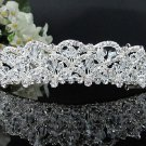Fancy Headpiece;Bridal imperial;Fashion Dancer Opera Tiara;Silver Elegance Wedding Regal#4686