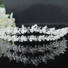 Fancy Headpiece;Bridal imperial;Fashion Dancer Opera Tiara;Silver Elegance Wedding Regal#3712