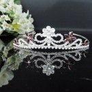 Fancy Headpiece;Bridal imperial;Fashion Dancer Opera Tiara;Silver Elegance Wedding Regal#1151