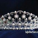 Fancy Headpiece;Bridal imperial;Fashion Dancer Opera Tiara;Silver Elegance Wedding Regal#4641
