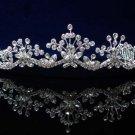Fancy Headpiece;Bridal imperial;Fashion Dancer Opera Tiara;Silver Elegance Wedding Regal#pj42