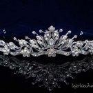 Fancy Headpiece;Bridal imperial;Fashion Dancer Opera Tiara;Silver Elegance Wedding Regal#pj86