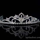 Fancy Headpiece;Bridal imperial;Fashion Dancer Opera Tiara;Silver Elegance Wedding Regal#535