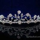 Fancy Headpiece;Bridal imperial;Fashion Dancer Opera Tiara;Silver Elegance Wedding Regal#696