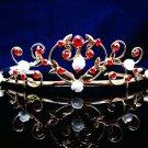 Fancy Headpiece;Bridal imperial;Fashion Dancer Opera Tiara;Silver Elegance Wedding Regal#1395