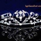 Fancy Headpiece;Bridal imperial;Fashion Dancer Opera Tiara;Silver Elegance Wedding Regal#1395s