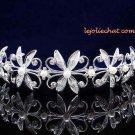 Fancy Headband;Bridal imperial;Fashion Dancer Opera Tiara;Silver Elegance Wedding Regal#4346S