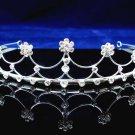 Fancy Headpiece;Bridal imperial;Fashion Dancer Opera Tiara;Silver Elegance Wedding Regal#3652