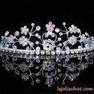 Fancy Headpiece;Bridal imperial;Fashion Dancer Opera Tiara;Silver Elegance Wedding Regal#5581