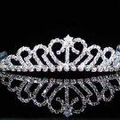 Fashion Dancer Opera Tiara;Fancy Headpiece;Bridal imperial;Silver Elegance Wedding Regal#7180