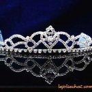 Fashion Dancer Opera Tiara;Fancy Headpiece;Bridal imperial;Silver Elegance Wedding Regal#7188