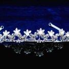 Fashion Dancer Opera Tiara;Fancy Headband ;Bridal imperial;Silver Elegance Wedding Regal#611