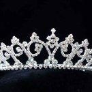 Fashion Dancer Opera Tiara;Fancy Headband ;Bridal imperial;Silver Elegance Wedding Regal#509s