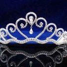 Fashion Dancer Opera Tiara;Fancy Headband ;Bridal imperial;Silver Elegance Wedding Regal#865s