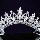 Fashion Dancer Opera Tiara;Fancy Headband ;Bridal imperial;Silver Elegance Wedding Regal#3524