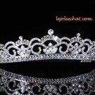 Fashion Dancer Opera Tiara;Fancy Headband ;Bridal imperial;Silver Elegance Wedding Regal#4096