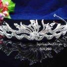 Fancy Headpiece;Fashion Dancer Opera Tiara;Bridal imperial;Silver Elegance Wedding Regal#1260