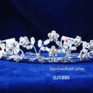 Fancy Headpiece;Fashion Dancer Opera Tiara;Bridal imperial;Silver Elegance Wedding Regal#1335