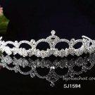 Fancy Headpiece;Fashion Dancer Opera Tiara;Bridal imperial;Silver Elegance Wedding Regal#1594