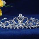 Fancy Headpiece;Fashion Dancer Opera Tiara;Bridal imperial;Silver Elegance Wedding Regal#1559
