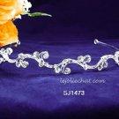 Fashion Dancer Opera Tiara;Fancy Headband ;Bridal imperial;Silver Elegance Wedding Regal#1473