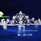 Fashion Dancer Opera Tiara;Fancy Headband ;Bridal imperial;Silver Elegance Wedding Regal#1338