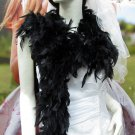 Wedding Party Decoration; 50g fuzzy chandelier feather boa for woman;for dancer #50bk
