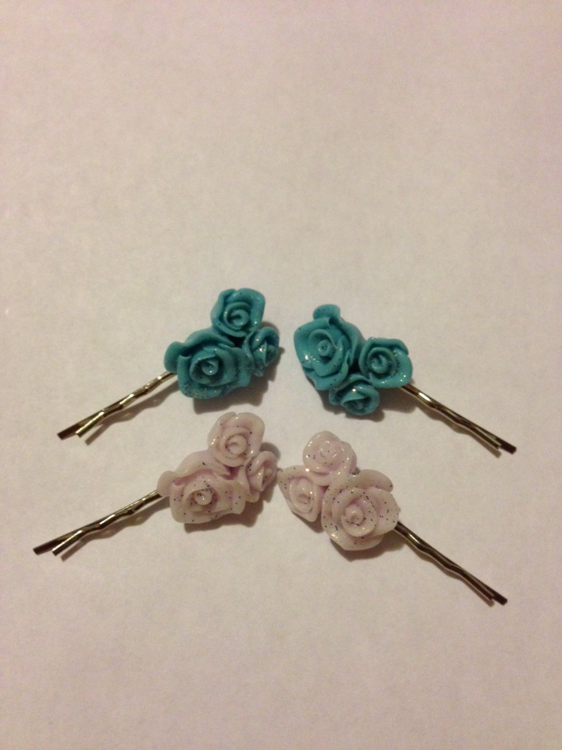 Resin Flower Hair Clips