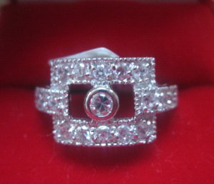 Sterling Silver/CZ ring