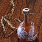 Ceramic small vase (moringa) by Brazilian Naif Artist Ana Fernandes