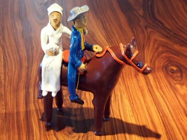 Original Vintage Brazilian Bride & Groom by S. Vitalino Valentine's Day Gift !